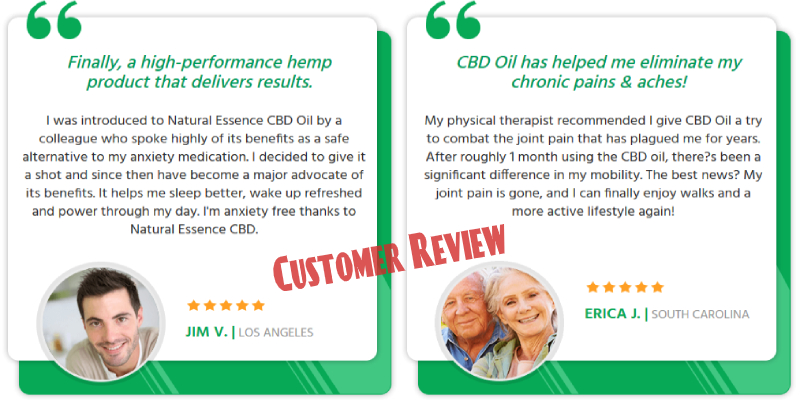 Essence CBD Oil Customer Review
